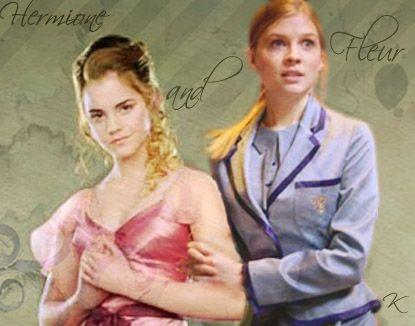 Hermione X Fleur Femmeslash Hermione Emma Watson Beautiful Clemence Poesy