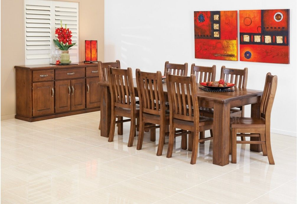9 Piece Dining Suite Is A Spacious And Functional Feature That Youll Love To Look At Sit In Your Room The Federation Styled Table