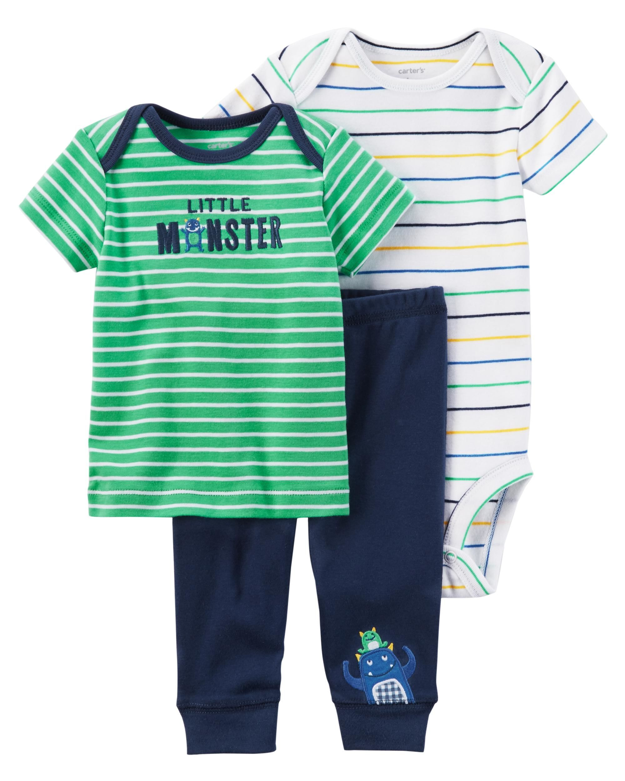 777f586e7 3-Piece Little Character Set | Mama Guga | Carters baby boys ...