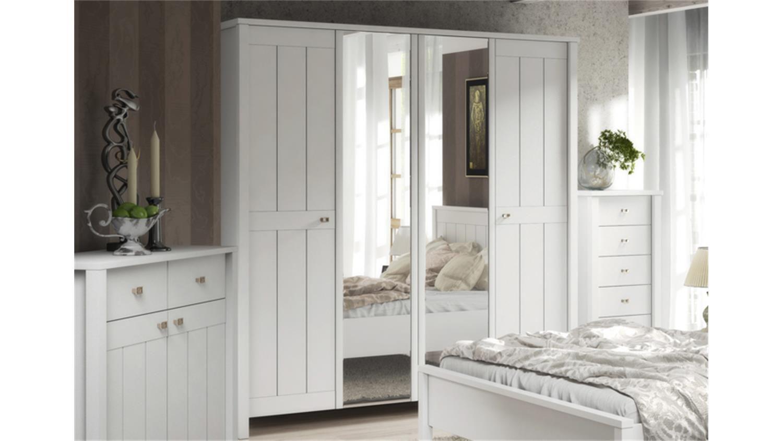 Kleiderschrank Brighton In Weiß Super Matt Landhaus Style Elegant