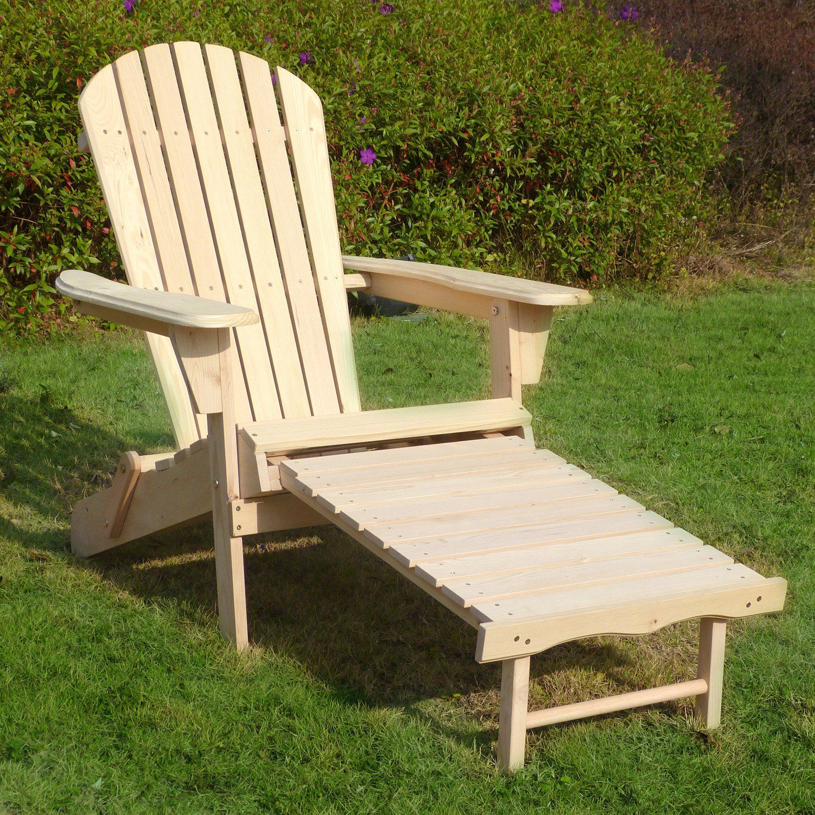 Merry Products Adirondack Chair Kit With Pullout Ottoman