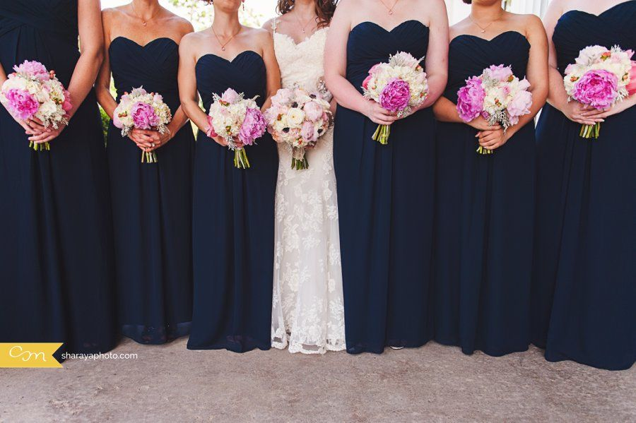Kc wedding photographer bridal party navy blue for Navy blue and pink wedding