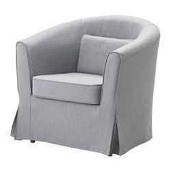 IKEA - TULLSTA, Lepotuoli, luonnonvärinen/Blekinge valkoinen, , Helppo pitää puhtaana konepestävän irtopäällisen ansiosta.Mukana irtotyyny, joka sopii ristiselän tueksi.Vaihdettavien irtopäällisten avulla kalusteen ilmettä on helppo uudistaa.Siro ja helppo sijoittaa.
