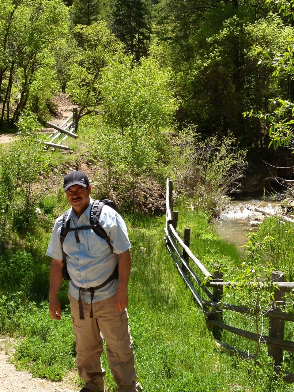 Fifth water hot springs trail, Spanish forks, Utah at diamond campgrounds.