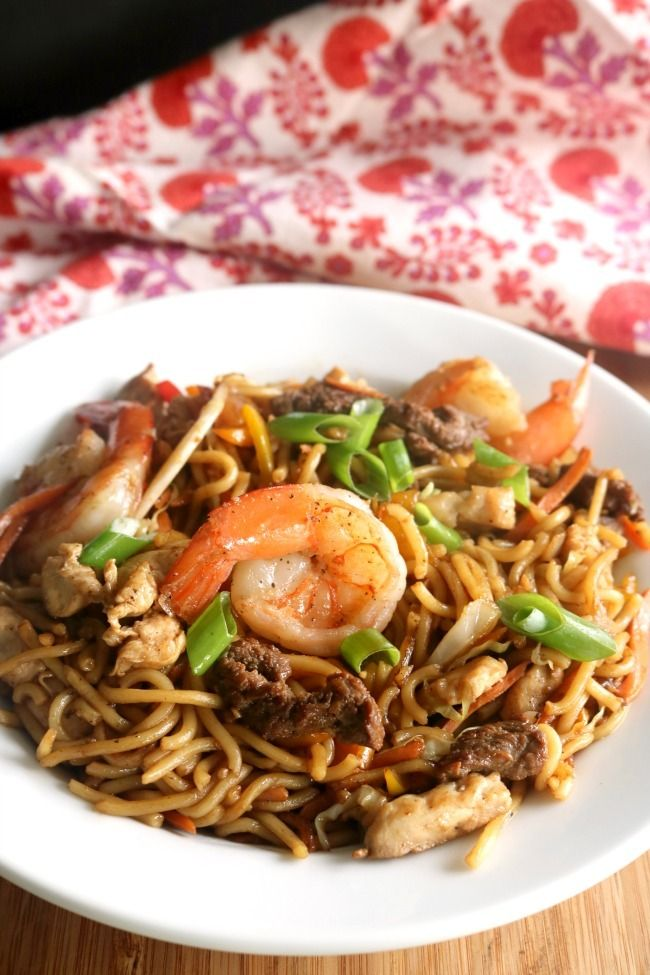 """Better than take out with this one secret ingredient! This Loaded """"House"""" Lo Mein is quick cooking, easy to prepare and loaded with savory umami flavor!  http://kitchendreaming.com/loaded-house-lo-mein/"""