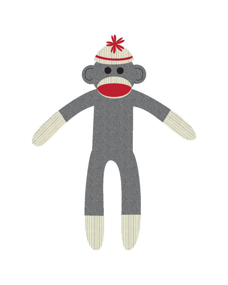 free sock monkey clip art kb png elephant drawing clip art vector rh pinterest com au Schylling Sock Monkey Clip Art clipart sock monkey free