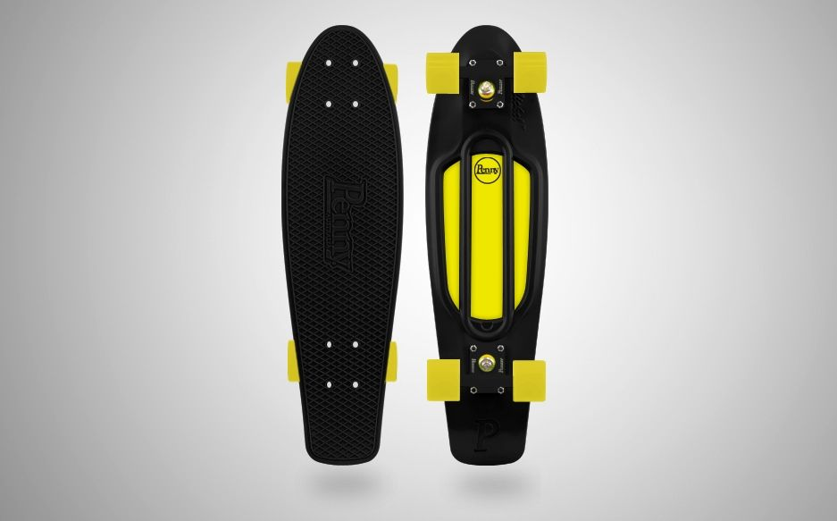 Batman long boards customized black yellow white penny for Create your own penny