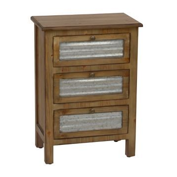 c9beff84ae Product Details Galvanized Metal 3-Drawer Storage Side Table in 2019 ...