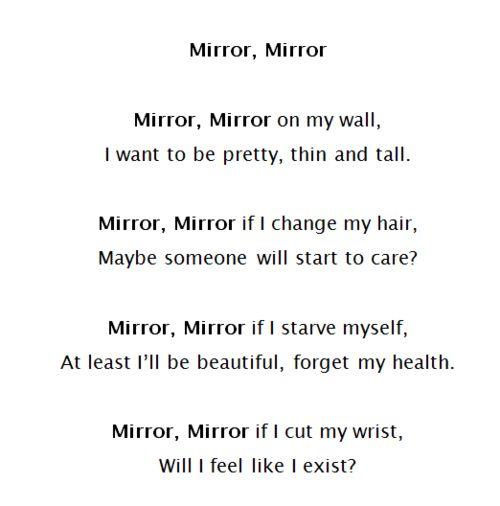 sad mirror quotes