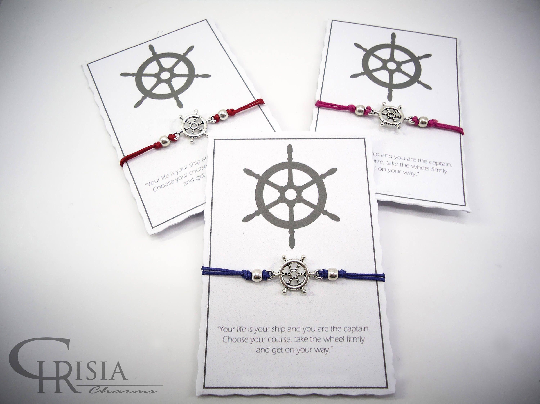 Ship wheel bracelet friendship bracelet charm bracelet nautical
