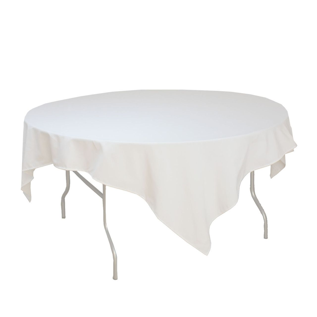 Perfect 72 X 72 Inches Square White Tablecloth