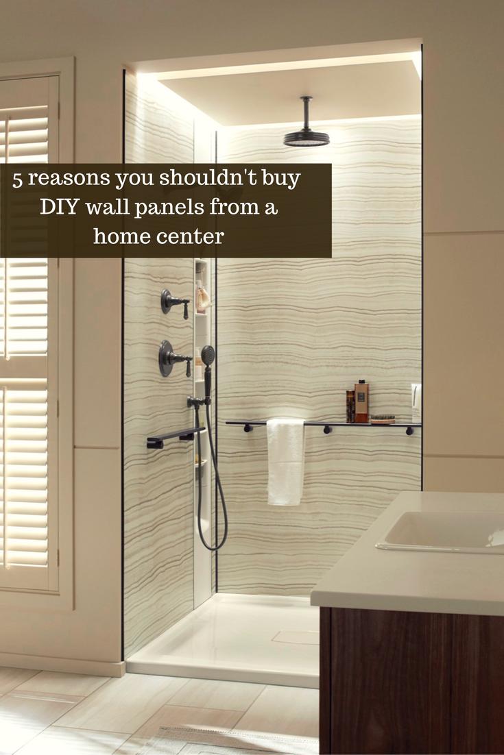 5 Reasons You Shouldn\'t Buy DIY Shower & Tub Panels at a Home ...