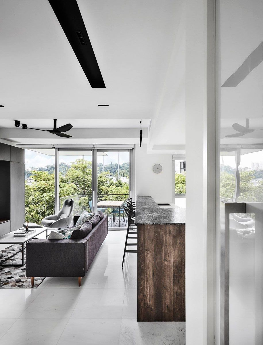 11 Seriously Stylish Singapore Homes With A White Black And Wood Colour Scheme Home Interior Design Singapore Wood Colors