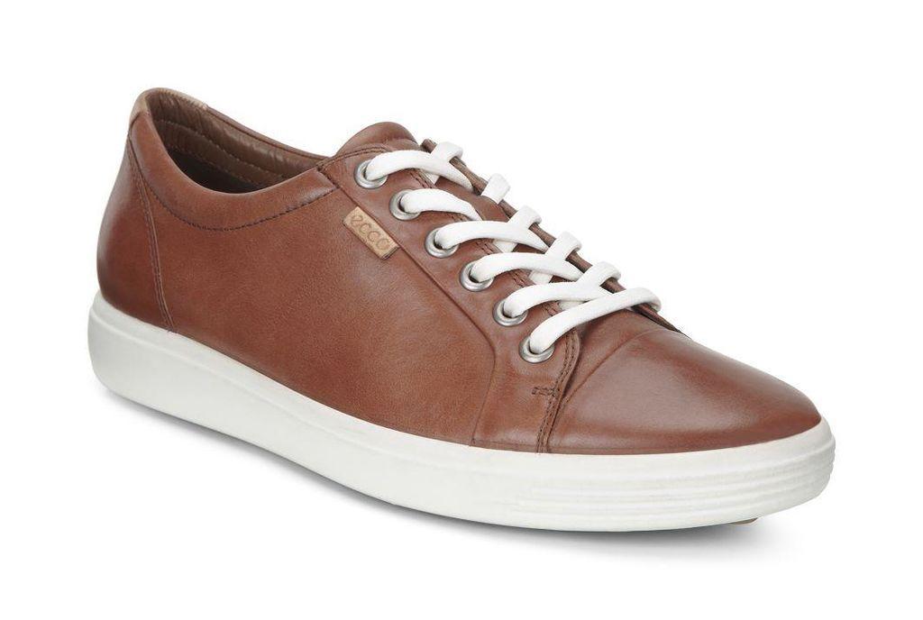 Ecco Womens Soft 7 Sneaker Mahogany Brown Sneakers Women Ecco Shoes Women Leather Sneakers Women