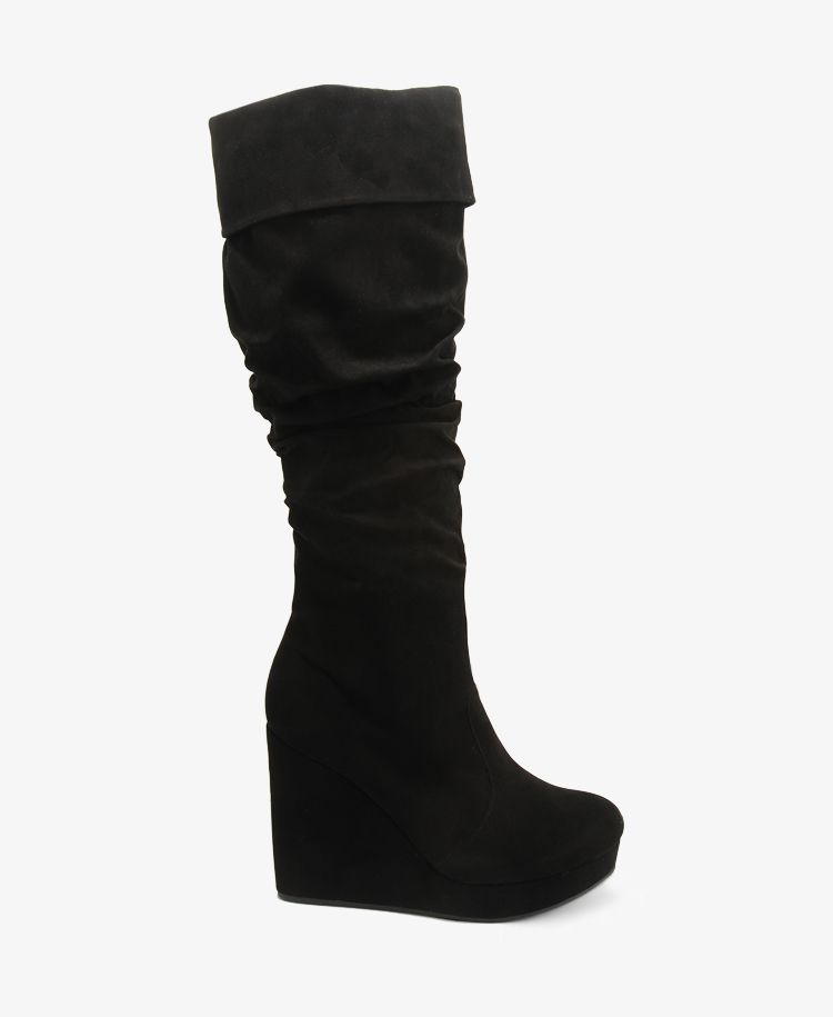 Scrunched Wedge Boots | FOREVER21 - 2030186734