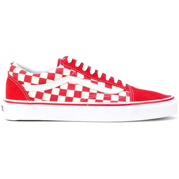 a284a89336c Vans Primary Check Old Skool sneakers ( 93) ❤ liked on Polyvore featuring  shoes