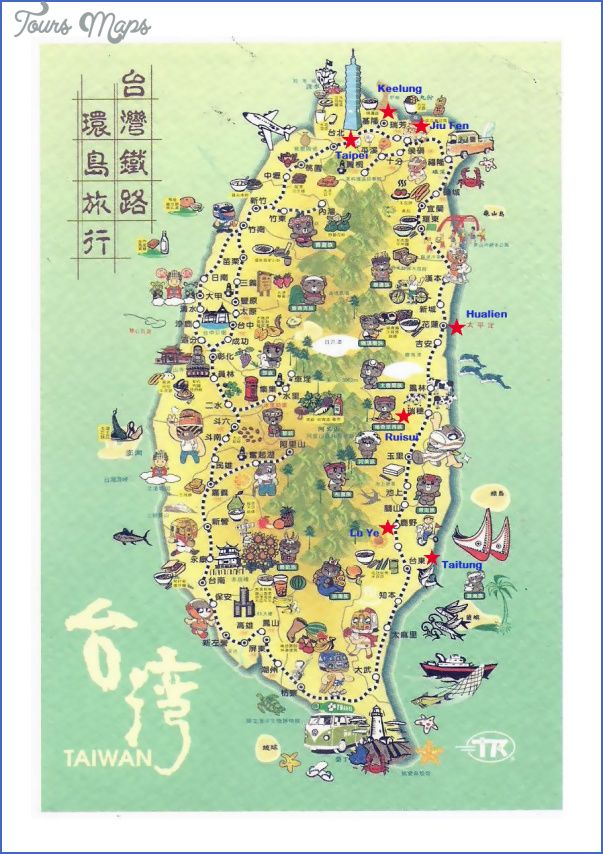 awesome taiwan map tourist attractions