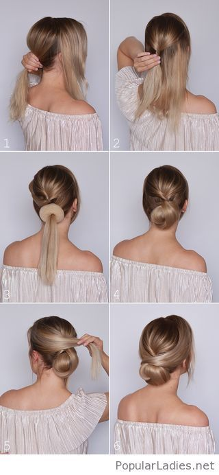 Amazing Low Bun Tutorial Medium Hair Styles Elegant Hairstyles Curly Hair Styles