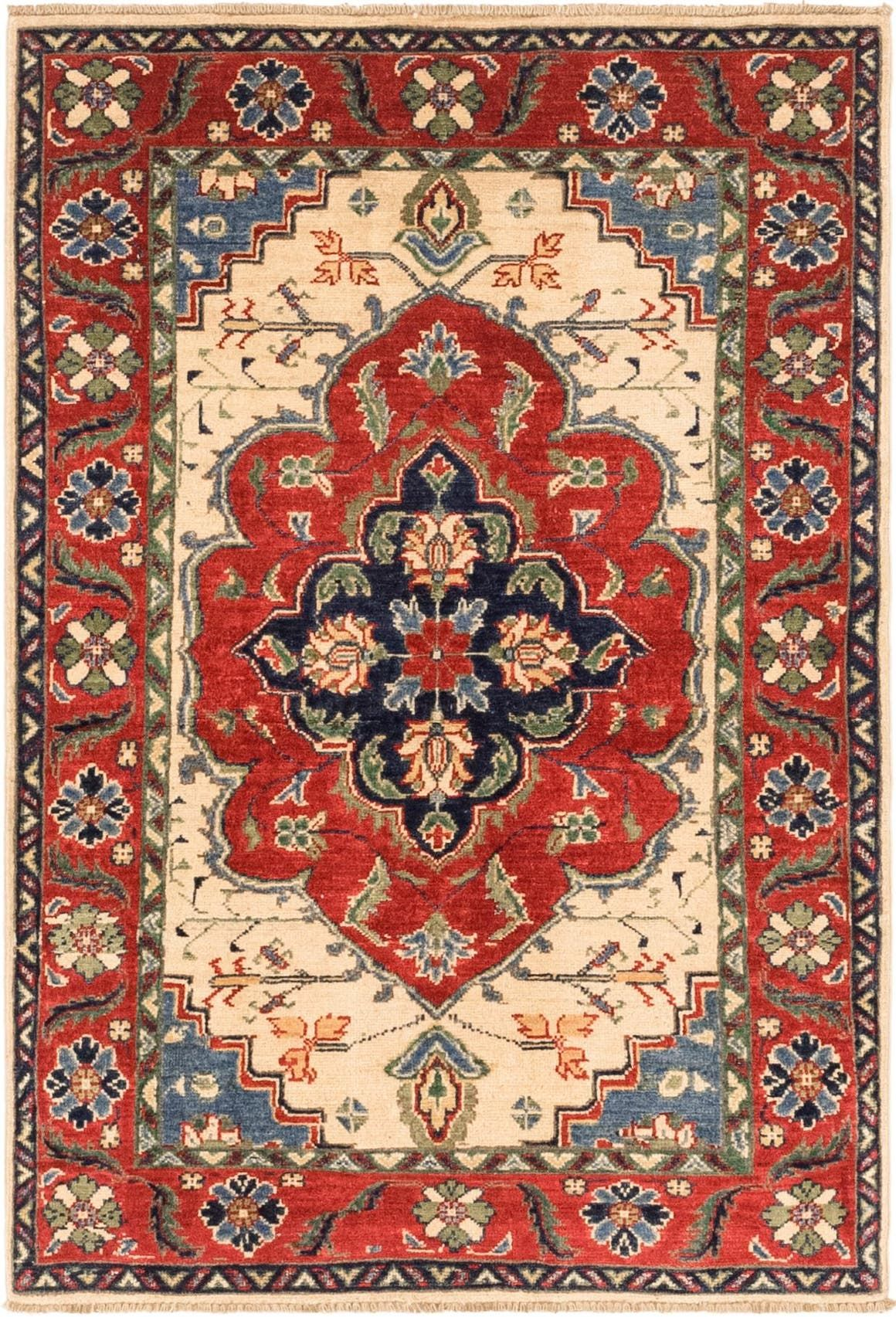 Kazak Red 3x5 Accent Rug In 2020 Rugs Rugs On Carpet Red Rugs