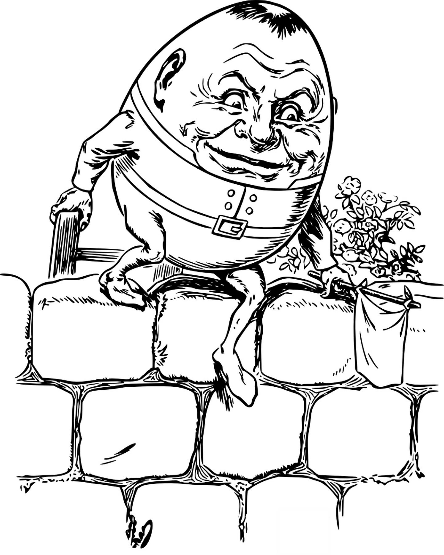 Humpty Dumpty Nursery Rhyme Coloring Page | Books and Movies ...