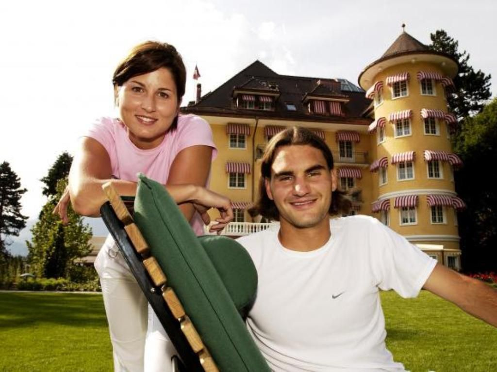 Image result for young federer and mirka