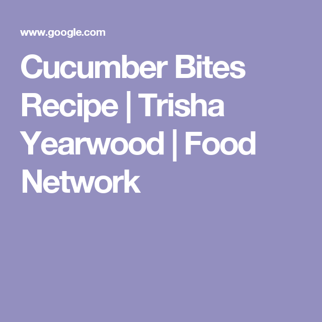 Cucumber bites recipe trisha yearwood food network food cucumber bites recipe trisha yearwood food network forumfinder Image collections