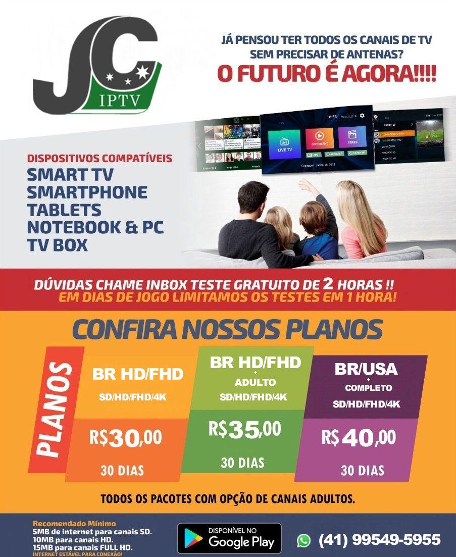 Lista JC IPTV é a única no Brasil à oferecer 06 fontes