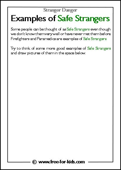Examples Of Safe Strangers Safety Autism Lesson