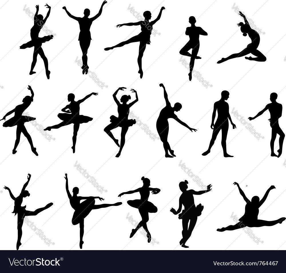 Ballet Dancer Vector Image On Vectorstock Ballet Dancers Dancer Silhouette Ballet Dancer Drawing
