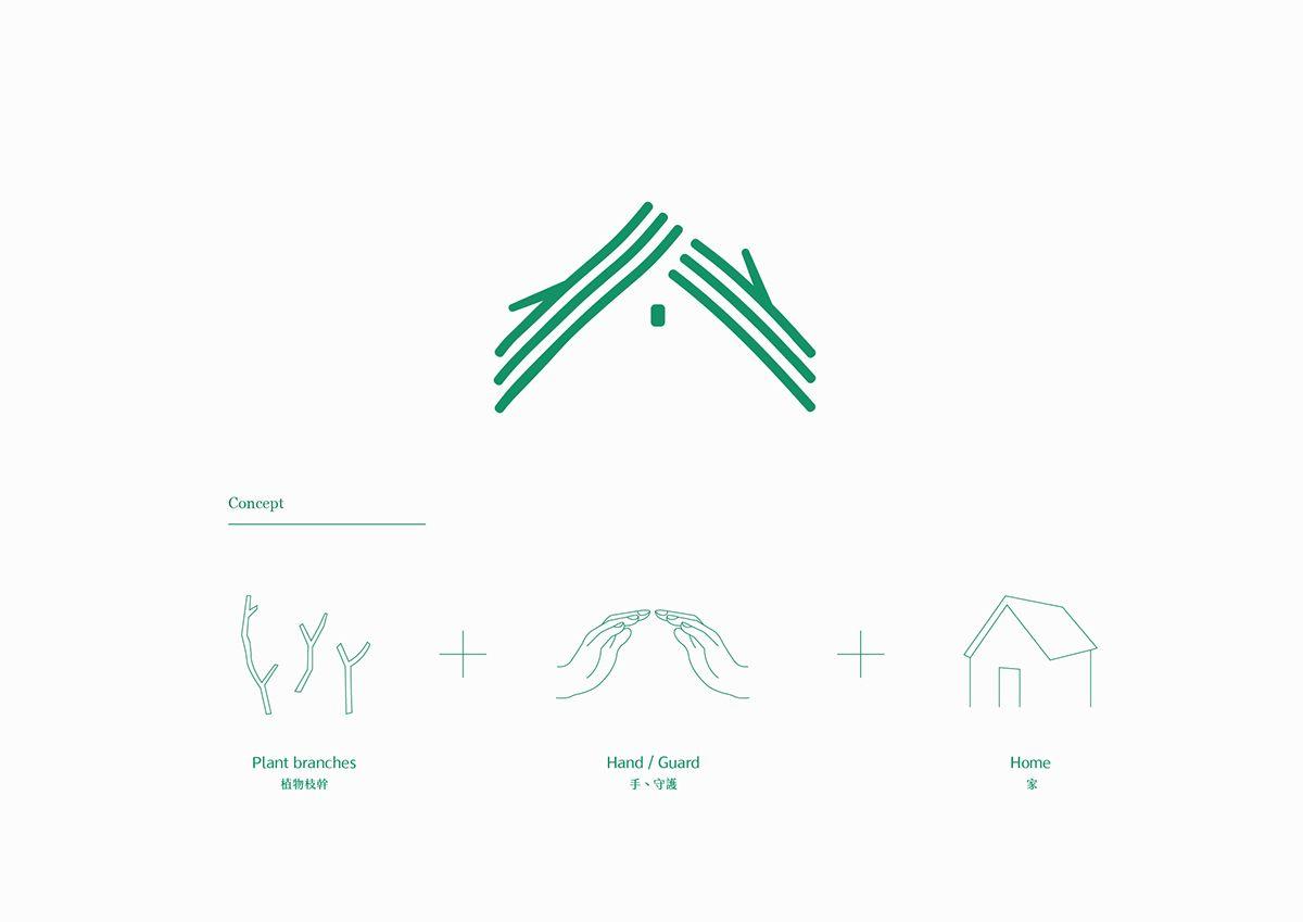植美家 把手與植物的枝幹結合 圍繞成一個屋頂 守護著這個家 用最