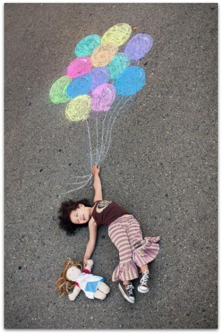 super cute things to do with chalk!
