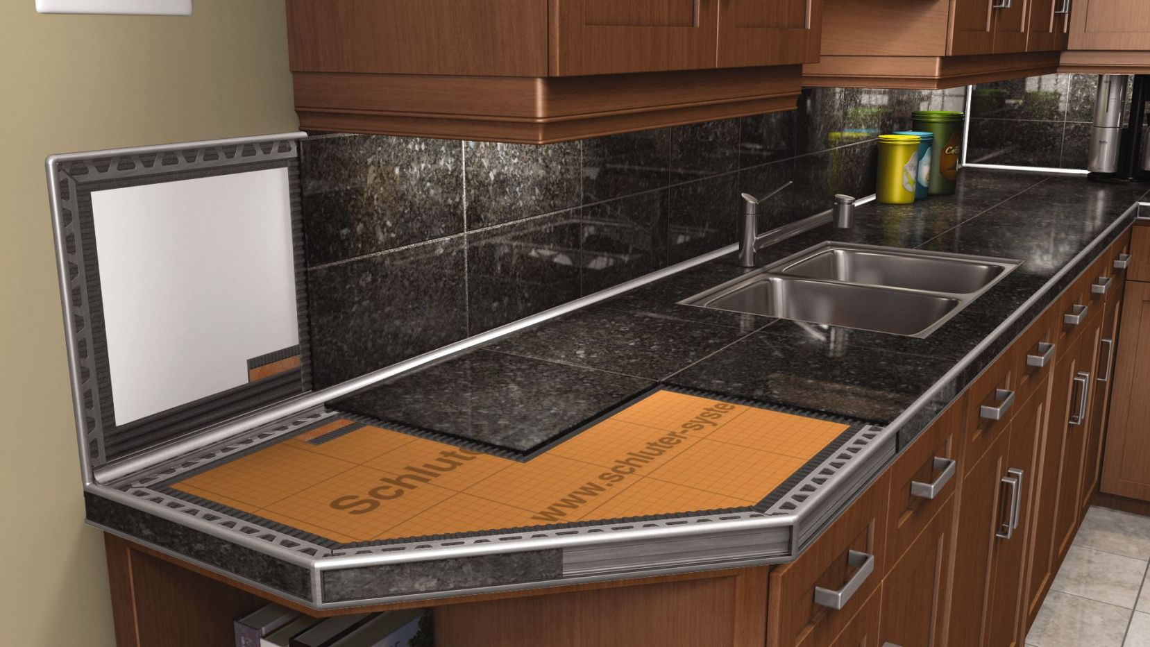 2019 Black Granite Tile Countertop Remodeling Ideas For Kitchens