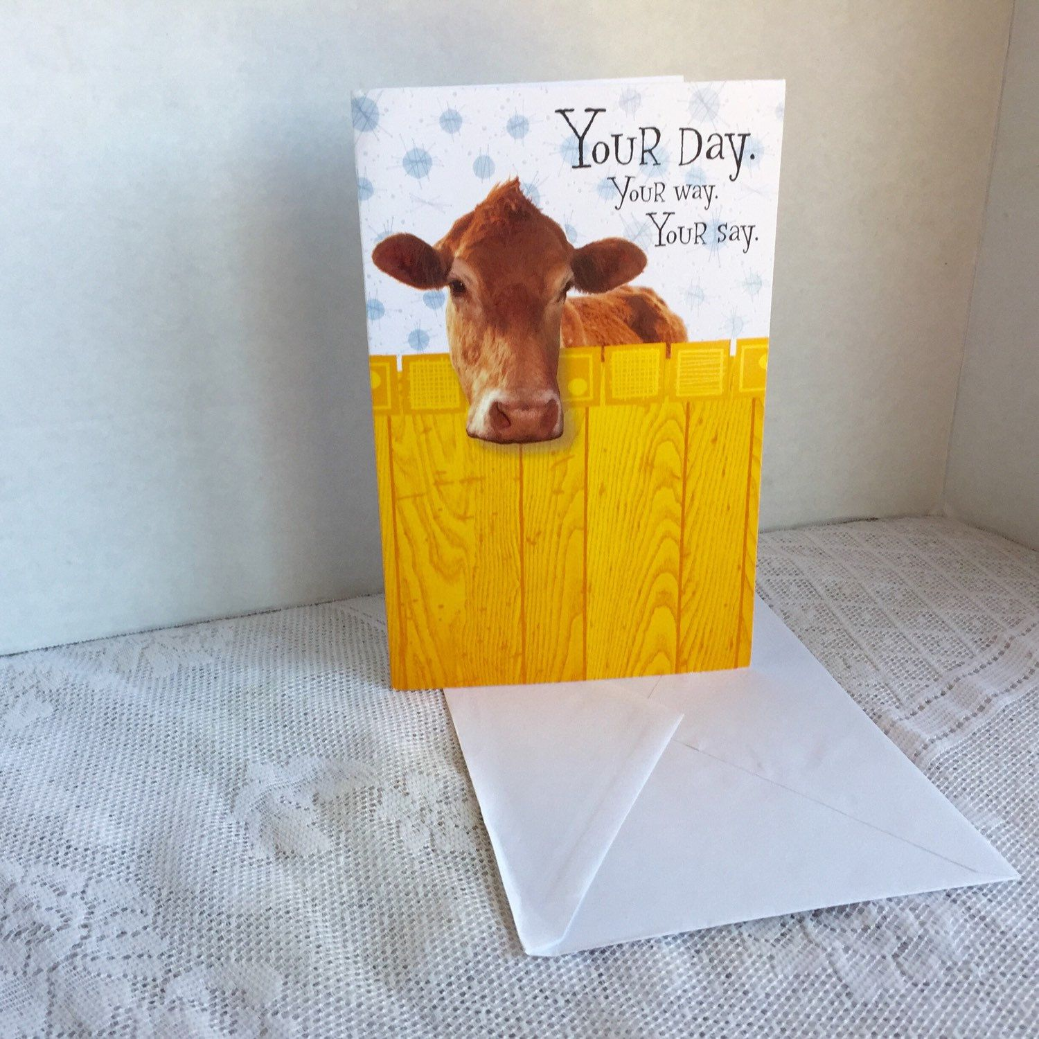 Humorous cow birthday card and envelope vintage funny greeting humorous cow birthday card and envelope vintage funny greeting card by tender thoughts m4hsunfo