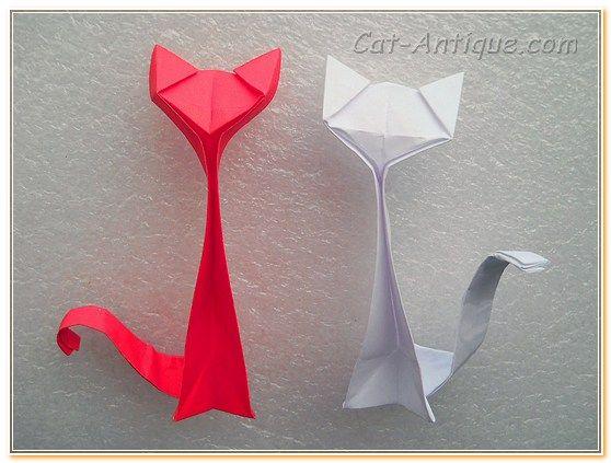 котенок оригами делаем сами