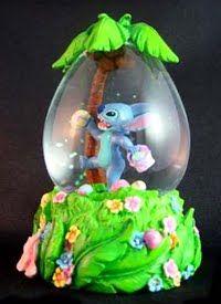Disney Easter Stitch Snowglobe