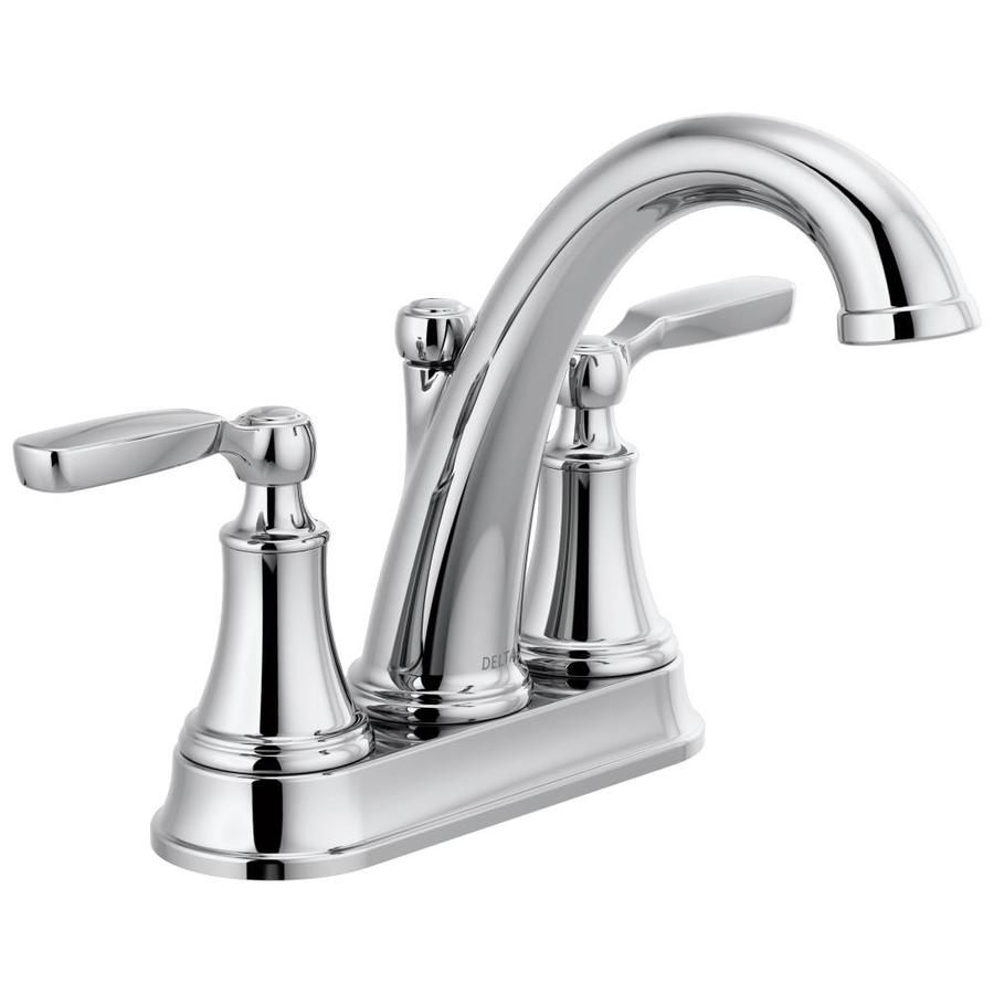 Delta Woodhurst Chrome 2 Handle 4 In Centerset Watersense Bathroom