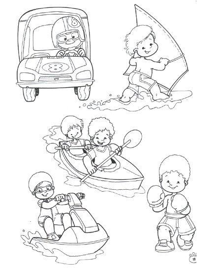 Deportes. Fichas para imprimir y colorear | deportes infantil ...