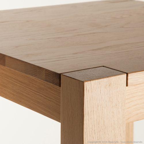 table de bar carr e en ch ne massif brunch house and kitchen pinterest chene massif table. Black Bedroom Furniture Sets. Home Design Ideas
