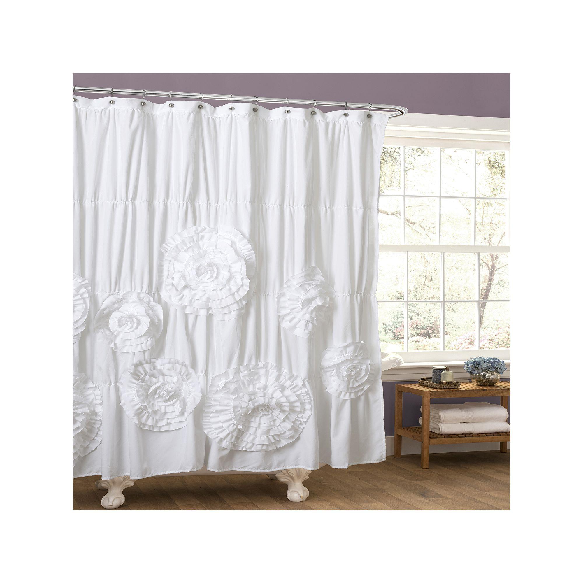 Lush Decor Serena Fabric Shower Curtain   LUSH, Fabrics and Bathroom ...