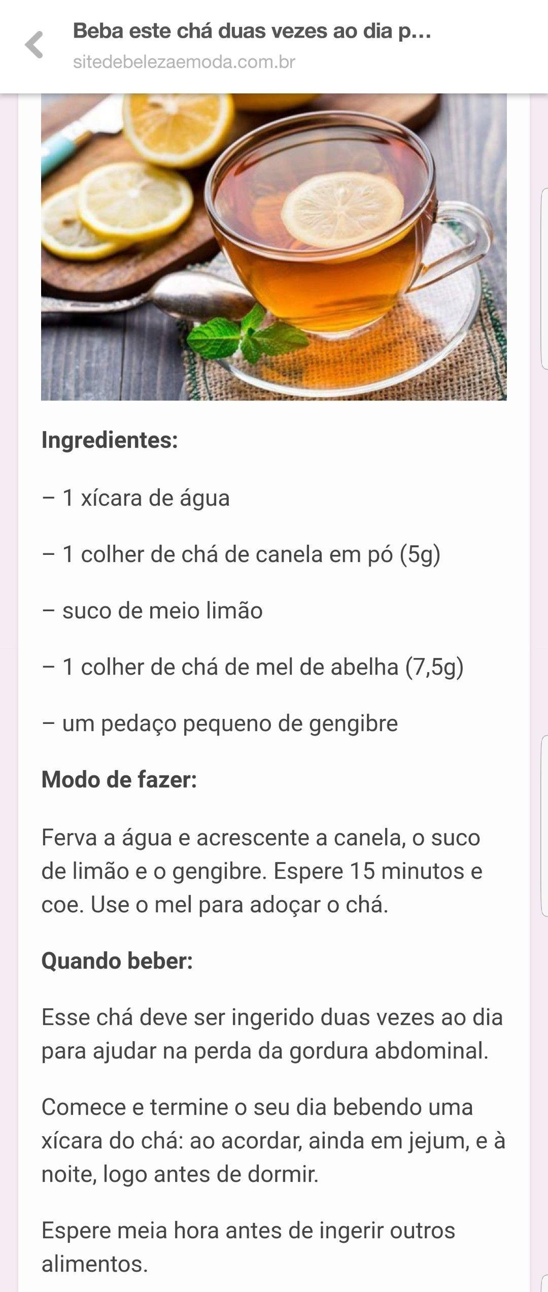 Agua Com Mel E Canela Beneficios cha limão, gengibre, canela e mel  receitas, gengibre com