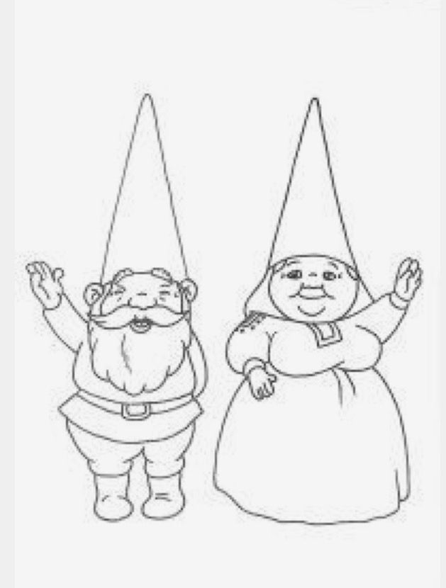 Pin de Rocío V.R. en gnomos | Pinterest | Gnomes, Coloring pages y ...