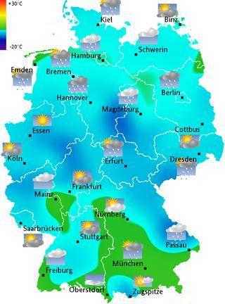 Wetterkarte Rheinland Pfalz