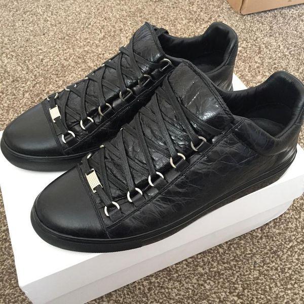 Black Balenciaga Low Top Sneaker Sizes