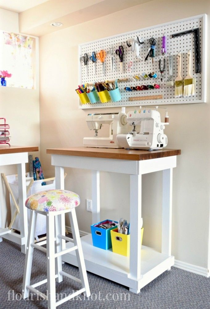 Craft Sewing Space Reveal Diy Home Decor 100 Room Challenge Sewing Room Design Small Sewing Rooms Sewing Rooms