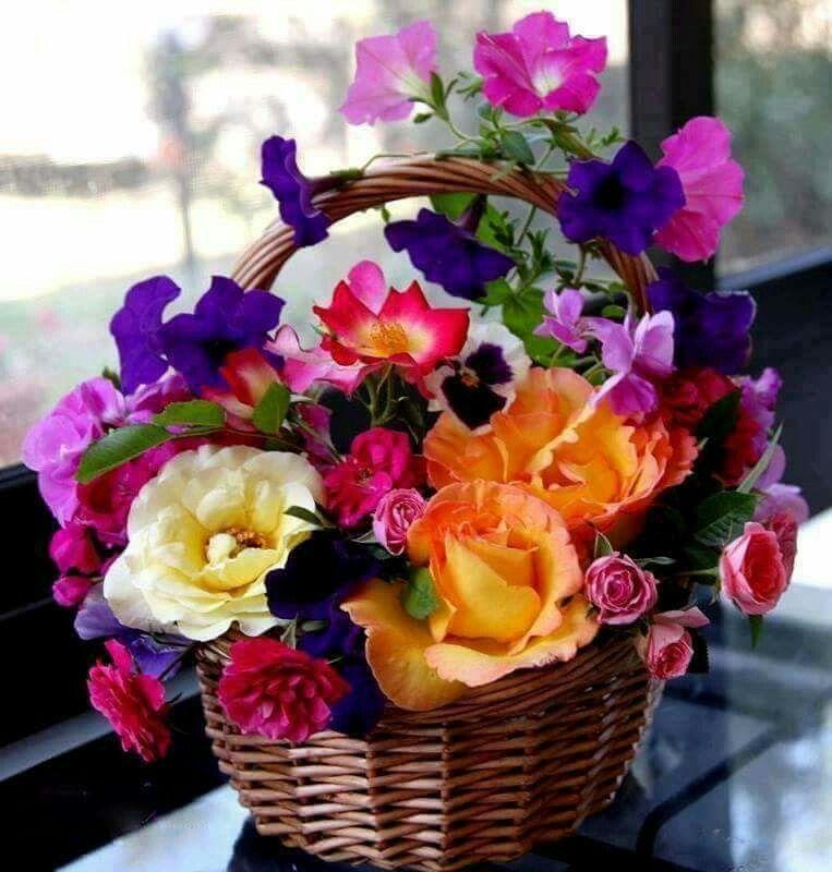 Guten Morgen Schöne Blumen Blumenstrauß Und Blumenarrangement