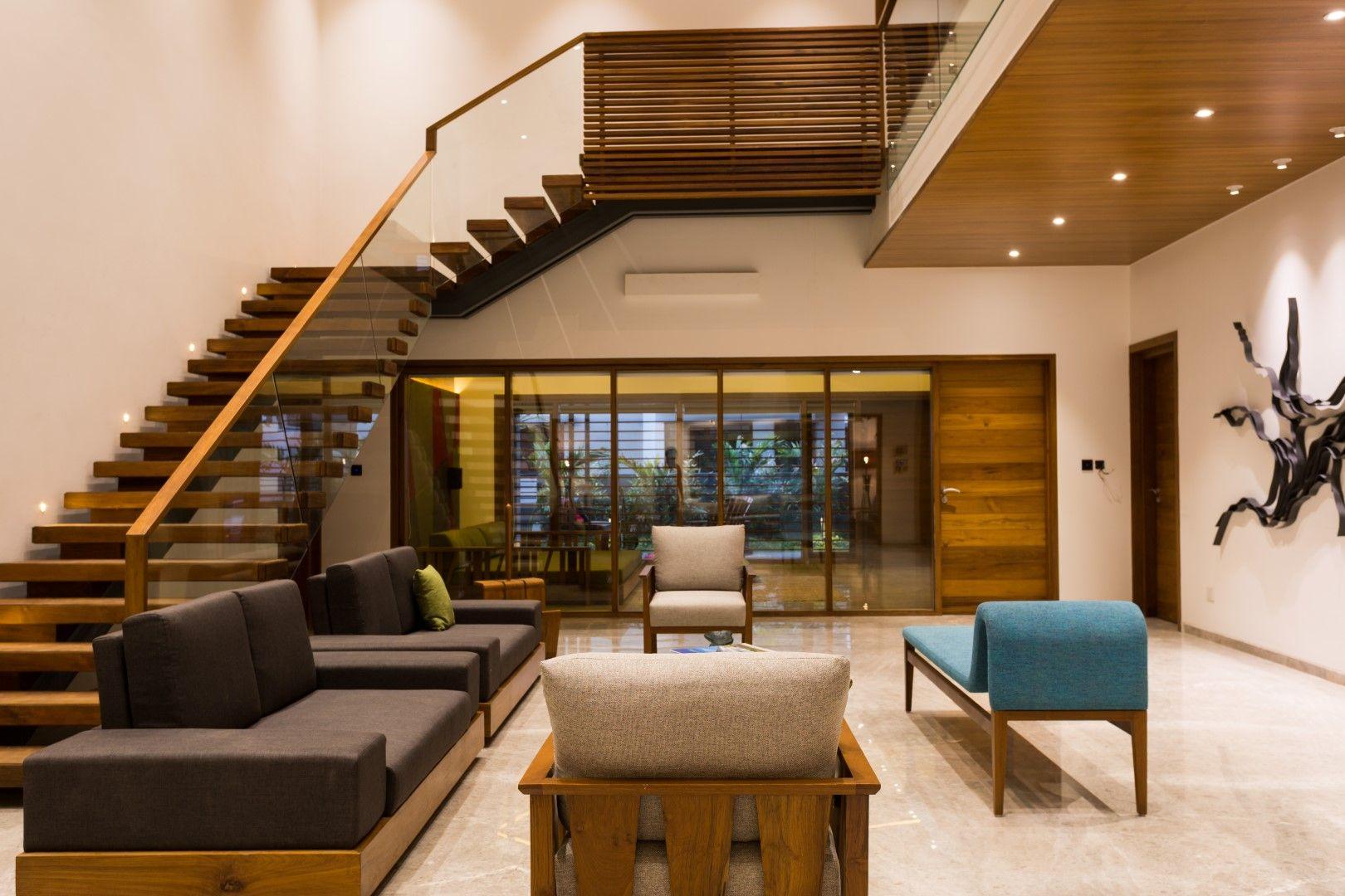 Modern Neat Residential Interiors Vpa Architects The Architects Diary Residential Interior Hall Interior Design Duplex House Design