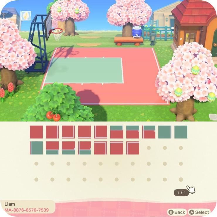 I Decided To Take A Simpler Approach For A Basketball Court It Takes Up 17 Design Slots So Not Too B In 2020 Animal Crossing Animal Crossing Qr Animal Crossing Guide