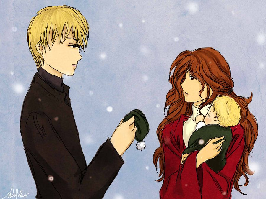 Draco hermione baby his 1 colored by on deviantart harry potter - Hermione granger fanfiction ...