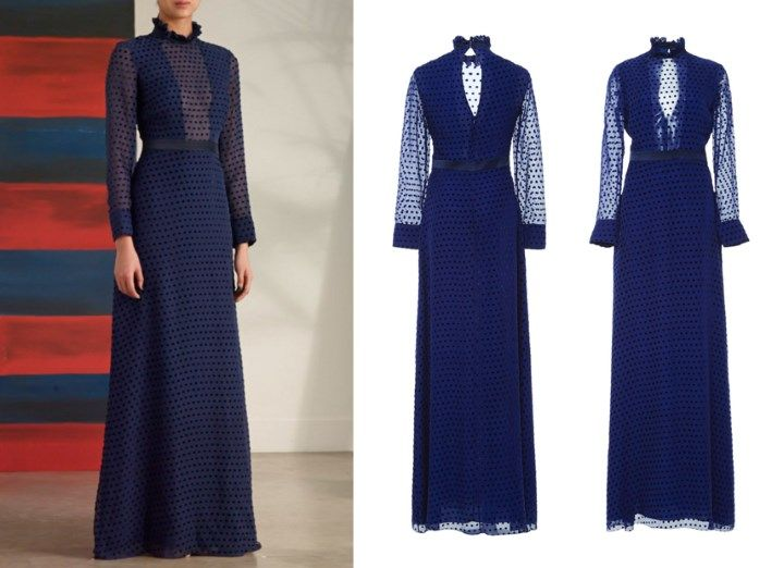 Duchess Kate: UPDATED: Kate in Floor-Length Saloni Dress for Pre-Tour Reception