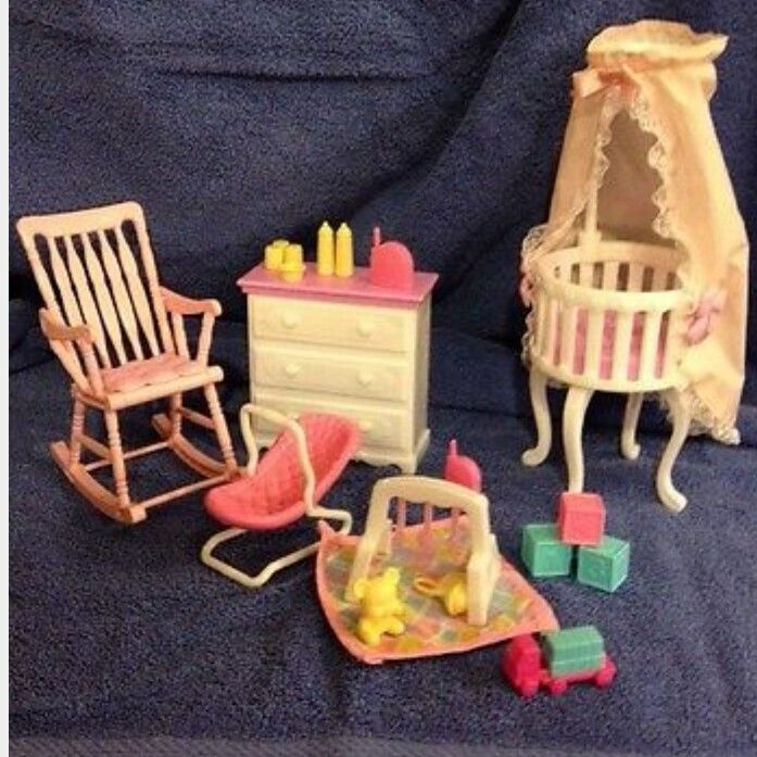 Barbie Baby Home Nursery Playset With Images Nursery Set Doll House Barbie